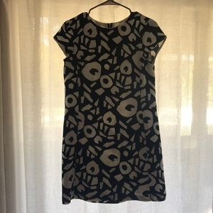 LOFT Short Sleeve Geometric Dress, Size 2